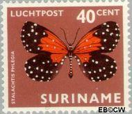 Suriname SU LP52  1972 Vlinders 40 cent  Gestempeld
