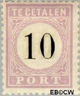 Suriname SU PT3  1886 Port 10 cent  Gestempeld