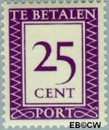 Suriname SU PT43  1950 Port 25 cent  Gestempeld