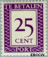 Suriname SU PT43  1950 Port 25 cent  Gestempeld