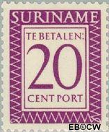 Suriname SU PT53  1956 Port 20 cent  Gestempeld