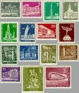 Berlin ber 140#154  1956 Gebouwen in Berlijn  Postfris