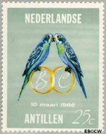 Nederlandse Antillen NA 370  1966 Huwelijk Beatrix en Claus 25 cent  Gestempeld