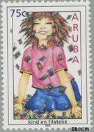 Aruba AR 352  2005 Kinderzegels 75 cent  Gestempeld