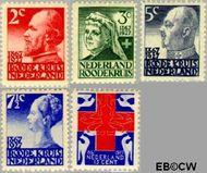 Nederland NL 203#207  1927 Rode Kruis  cent  Gestempeld
