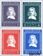 Nederland NL 578#581  1952 Riebeeck-monument  cent  Gestempeld