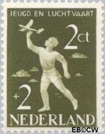 Nederland NL 647  1954 Nationaal Luchtvaartfonds 2+2 cent  Gestempeld