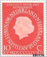 Nederland NL 654#  1954 Koninkrijks Statuut  cent  Gestempeld
