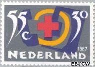 Nederland NL 1381  1987 Rode Kruis- Activiteiten 55+30 cent  Gestempeld