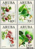 Aruba AR 144#147  1994 Bloemen  cent  Gestempeld