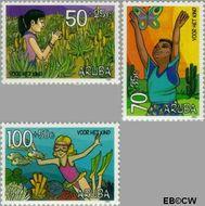 Aruba AR 204#206  1997 Kind en natuur  cent  Gestempeld