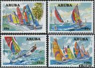 Aruba AR 384#387  2007 Catamaran regatta  cent  Gestempeld