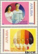 Aruba AR 106#107  1992 Gelijkheid  cent  Postfris