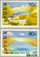 Aruba AR 116#117  1992 Natuurlijke bruggen  cent  Gestempeld
