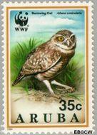 Aruba AR 136  1994 Wereld Natuur Fonds 35 cent  Gestempeld