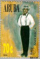 Aruba AR 176  1996 Klederdrachten 70 cent  Gestempeld