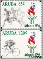 Aruba AR 178#179  1996 Olympische Spelen Atlanta  cent  Gestempeld