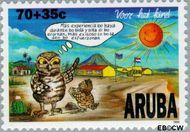 Aruba AR 186  1996 Kind en dier 70+35 cent  Gestempeld