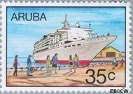 Aruba AR 197  1997 Cruises 35 cent  Gestempeld