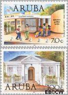 Aruba AR 235#236  1999 Bibliotheken  cent  Gestempeld