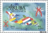 Aruba AR 247  2000 Millennium/Aidsbestrijding 75 cent  Gestempeld