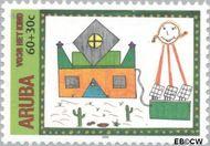 Aruba AR 257  2000 Kindertekeningen 60+30 cent  Gestempeld