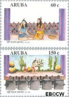 Aruba AR 264#265  2001 Mascaruba 40 jaar  cent  Gestempeld