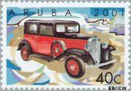 Aruba AR 267  2001 Klassieke auto's 40 cent  Gestempeld