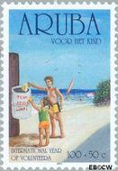 Aruba AR 277  2001 Kinderzegels 100+50 cent  Gestempeld