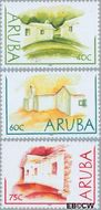 Aruba AR 294#296  2003 Lemen huisjes  cent  Gestempeld