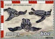 Aruba AR 307  2003 Schildpadden 60 cent  Gestempeld