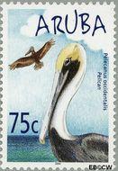 Aruba AR 317  2004 Watervogels 75 cent  Gestempeld