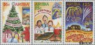 Aruba AR 327#329  2004 Decemberzegels  cent  Gestempeld