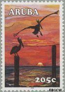 Aruba AR 342  2005 Zonsondergang 205 cent  Gestempeld