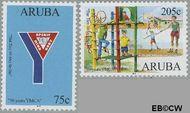 Aruba AR 358#359  2006 Y.M.C.A.  cent  Gestempeld