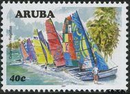 Aruba AR 384  2007 Catamaran regatta 40 cent  Gestempeld