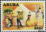 Aruba AR 394  2008 Cultureel jaar 205 cent  Gestempeld
