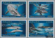 Aruba AR 427#430  2009 Dolfijnen  cent  Postfris