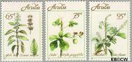 Aruba AR 92#94  1991 Geneeskrachtige kruiden  cent  Postfris