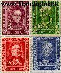 Bundesrepublik BRD 117#120  1949 Bekende personen  Postfris