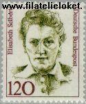 Bundesrepublik BRD 1338#  1987 Bekende vrouwen  Postfris