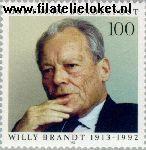 Bundesrepublik BRD 1706#  1993 Brandt, Willy  Postfris