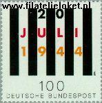 Bundesrepublik BRD 1741#  1994 Aanslag op Hitler  Postfris
