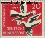 Bundesrepublik BRD 276#  1957 Internationale brievenweek  Postfris