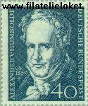 Bundesrepublik BRD 309#  1959 Humboldt, Alexander  Postfris