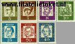 Bundesrepublik BRD 347X#355X  1961 Bekende personen  Postfris