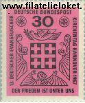 Bundesrepublik BRD 536#  1967 Evangelische kerkendag  Postfris