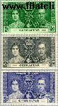 Gibraltar gib 104#106  1937 Koning Geoge V- Kroningsjubileum  Postfris
