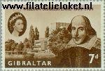 Gibraltar gib 166  1964 Shakespeare, William  Postfris