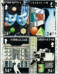 Gibraltar gib 654#657  1993 C.E.P.T.- Hedendaagse kunst  Postfris